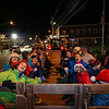 Excited parents and children at the start of a hay ride on a wagon pulled by a tractor from Hidden Brook Farm at the 2017 Annual Christmas Tree Lighting at the Gazebo at Marelli Square sponsored by the Hampton Parks & Recreation Department on Friday Night, Hampton, NH, 12-1-2016.  Matt Parker Photos