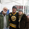 Bruins #13 Kenny Linseman with a couple fans posing for a photo at the 2017 Richie McFarland Children's Center presents The Boston Bruins Alumni vs Team Richie charity Hockey event on Saturday 12-16-2017 @ The Rinks at Exeter.  Matt Parker Photos