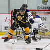 Bruins #11 Reggie Lemelin looks to make a play on the Team Richie net at the 2017 Richie McFarland Children's Center presents The Boston Bruins Alumni vs Team Richie charity Hockey event on Saturday 12-16-2017 @ The Rinks at Exeter.  Matt Parker Photos
