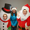 7th graders Marylou Marsden, Bella Caracciolo and Caroline Mollica have fun with the snowman and santa cut-outs at the 2017 Lights 4 Lives, Action for Aidan community fundraiser sponsored by the Stratham Volunteer Fire Department on Sunday 12-17-2017.  Matt Parker Photos