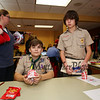Tyler Denton and Evan Driscoll of Stratham Troop 185 sell raffle tickets for the 2017 Lights 4 Lives, Action for Aidan community fundraiser sponsored by the Stratham Volunteer Fire Department on Sunday 12-17-2017.  Matt Parker Photos