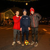 Exeter 8th graders Eben DeSilva, Wuinn Phillips and Sam Gauthier pose for a phot at Exeter's 60th anniversary annual Holiday Parade on Saturday 12-2-2017, Exeter, NH.  Matt Parker Photos