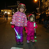 Sisters, pre-k Sophia and 2 year old Aubree Cross with their lighted snowflakes at Exeter's 60th anniversary annual Holiday Parade on Saturday 12-2-2017, Exeter, NH.  Matt Parker Photos