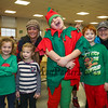 """Jacob the Elf Santa"" poses with a group of parents and children at the 2017 Annual Hampton PTA Breakfast with Santa on Saturday @ Hampton Academy on 12-9-2017.  Matt Parker Photos"