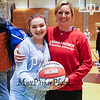 Dana Farber volunteer Program organizer Kristen Underwood and cancer survivor Lindsay McAlpine pose for a photo at Saturday's 2017 Dana Farber Marathon Challenge 3-on-3 Basketball fundraising tournament at Portsmouth High School on 2-4-2017.  Matt Parker Photos