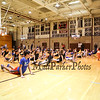 BJ Mumford of Integrity Hoops runs stretching drills prior to the 7 and 8th grade games at Saturday's 2017 Dana Farber Marathon Challenge 3-on-3 Basketball fundraising tournament at Portsmouth High School on 2-4-2017.  Matt Parker Photos