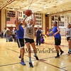 Maddie Steward of Kennett HS goes for a shot with Olivia Howard of Fast-N-Furious defending in the 7th and 8th grade division at Saturday's 2017 Dana Farber Marathon Challenge 3-on-3 Basketball fundraising tournament at Portsmouth High School on 2-4-2017.  Matt Parker Photos