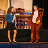 "The school mascot Darby the Squirrel (R)(played by Riley Wall) talks with Sue a student expert on football (palyed by Chloe Rummler) during a scene from the play, ""Just For Kicks"" by Patrick M. Cleeper's as performed by the The Hampton Academy Players on Friday 3-17-2017 @ Hampton Academy.  Matt Parker Photos"