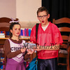 "Bronco an opposing football player (played by Sam Hackett) gives an autograph to cheerleader Terry (played by Emeri Jacobs) during a scene from the play, ""Just For Kicks"" by Patrick M. Cleeper's as performed by the The Hampton Academy Players on Friday 3-17-2017 @ Hampton Academy.  Matt Parker Photos"