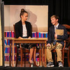 "Assistant Principal Mr. Thomlin (played by Ryan Behan) asks English Teacher Janet Talber (played by Riley Demotses) to be the schools Football Coach during a scene from the play, ""Just For Kicks"" by Patrick M. Cleeper's as performed by the The Hampton Academy Players on Friday 3-17-2017 @ Hampton Academy.  Matt Parker Photos"