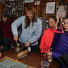 "Staci Zaker mixing the mape sugar candy at the Lincoln Akerman School 4th grade ""Sugaring-Off"" Maple Syrup Party on Saturday 3-25-2017 @ Hampton Falls, NH.  Matt Parker Photos"