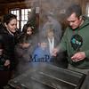 "Scott Elzey monitors the maple sap evaporation process at the Lincoln Akerman School 4th grade ""Sugaring-Off"" Maple Syrup Party on Saturday 3-25-2017 @ Hampton Falls, NH.  Matt Parker Photos"