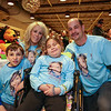9 yeare old Ciara Brill with her brother Darian, father Harold and friend Nicole Ferola pose for a photo at  Sunday's benefit for Ciara who was diagnosed with DIPG,  brain cancer, with family, friends and community on 3-26-2017 @ Portsmouth High School.  Matt Parker Photos