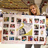 Long time family friend Donna Smith holds a picture board that she made for Ciara and signed by family, friends and community members as a way to show their support at Sunday's Fundraiser to benefit 3-26-2017 @ Portsmouth High School.  Matt Parker Photos