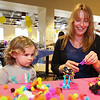 "2-1/2 year old Aryal Bold with ""Gammie"" Shelia Katsamos of Eliot , ME make a ""fairy bug"" at  Sunday's benefit for 9 year old Ciara Brill who was diagnosed with DIPG,  brain cancer, with family, friends and community on 3-26-2017 @ Portsmouth High School.  Matt Parker Photos"