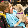 "9 year old Ciara Brill gets a kiss from ""Abby the Puppy"" at Sunday's fundraiser with Mom Staci looking on at Sunday's fundraiser to support Ciara who was diagnosed with DIPG,  brain cancer, with family, friends and community on 3-26-2017 @ Portsmouth High School.  Courtsey photo by Danielle Reneee Simpson of Dee Renee Photography"