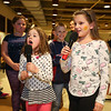 "6 year old Sydney Place and 9 yeare old AJ Kimball sing ""You are My Sunshine"" during a karaoke performance at  Sunday's benefit for 9 year old Ciara Brill who was diagnosed with DIPG,  brain cancer, with family, friends and community on 3-26-2017 @ Portsmouth High School.  Matt Parker Photos"