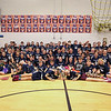 Stratham Memorial School 5th graders pose for a photo after the faculty win at the 5th Grade vs Faculty Basketball Game on Thursday 3-9-2017 @ SMS, Stratham, NH.  Matt Parker Photos