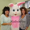 Sharon Tovey and Cynthia Auger pose for a photo with the Easter Bunny at the Brentwood Recreation Department Egg Hunt and Easter Bunny Breakfast on Saturday 4-15-2017, Brentwood, NH.  Matt Parker Photos
