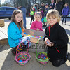 A young group of kids pose for a photo with the Easter Bunny's cash of eggs at the Brentwood Recreation Department Egg Hunt and Easter Bunny Breakfast on Saturday 4-15-2017, Brentwood, NH.  Matt Parker Photos