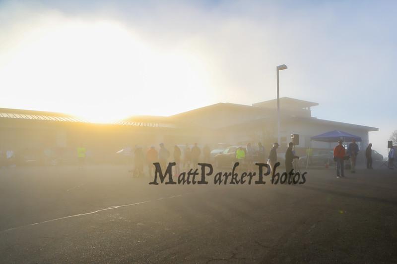 Morning fog at the Portsmouth Half Marathon with Loco Running on Sunday 4-23-2017 Greenland, NH.  Matt Parker Photos