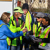 Arlon Chaffee of Loco Sports works with his Winnacunnet Chem Free voluntees prior to the start of the Portsmouth Half Marathon with Loco Running on Sunday 4-23-2017 Greenland, NH.  Matt Parker Photos