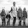 Miss Hampton Beach 2016/2017 Brooke Riley poses for a photo with Cole Buckley (5), Maverick Delaney (3), Ava Delaney (9) and Addison McErlain (9) at the 2017 Annual Hampton Beach Easter Egg Hunt sponsored by The Hampton Recreation Department on Saturday 4-8-2017, Hampton Beach, NH.  Matt Parker Photos