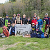 Scouts from Pack 177 of Hampton pose for a photo in front of the Batchelder Pond monument at the 2017 Hampton Fishing Derby sponsored by the Hampton Rec Department on Saturday 5-13-2017 @ Batchelder Pond, Hampton, NH.  Matt Parker Photos