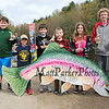 """Winners of the shortest and longest fish competition in the various age divisions L to R Connar Binette 16.5"""", Anthony Westbrook 12.5"""", Camden David 12-3/4"""", Brenden Fox 8-7/8"""", Natalie Murphy 7-7/8"""", and Jack Hanson who caught the longest and shortest fish in his age division at the 2017 Hampton Fishing Derby sponsored by the Hampton Rec Department on Saturday 5-13-2017 @ Batchelder Pond, Hampton, NH.  Matt Parker Photos"""