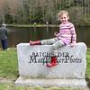 4 year old Josephine Kulbery taking a break at the 2017 Hampton Fishing Derby sponsored by the Hampton Rec Department on Saturday 5-13-2017 @ Batchelder Pond, Hampton, NH.  Matt Parker Photos