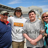 (L to R) Kevin Reusch with sons Preston, Bryce and wife Maryrae at the Kites Against Cancer to benefit The Beyond the Rainbow Fund of Exeter Hospital on Sunday at the Seashell Stage, Hampton Beach on 5-21-2017.  Matt Parker Photos
