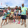 (L to R) Abigal Bradbury, Denise Shehan, Benjamin Monroe, Lydia Monroe, Marion Bradbury and Lane Monroe of Warner, NH came to support the Kites Against Cancer to benefit The Beyond the Rainbow Fund of Exeter Hospital on Sunday at the Seashell Stage, Hampton Beach on 5-21-2017.  Matt Parker Photos