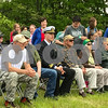 2017 Grand Marshal Jack Shaw Captain, US Air Force (center in plaid) at the Newfields Memorial Day ceremony and parade on Saturday 5-27-2017.  Amy Sununu and Natalie Fream Photos