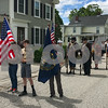 Scouts from Troop 322 during the Newfields Memorial Day ceremony and parade on Saturday 5-27-2017.  Amy Sununu and Natalie Fream Photos