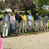 Veterans line up to be recognized at the Newfields Landing along the Squamscott River during Newfields Memorial Day ceremony and parade on Saturday 5-27-2017.  Amy Sununu and Natalie Fream Photos