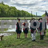 The New Hampshire Colonial Brigade Militia overlooking the Squamscott River at the Newfields Landing during Newfields Memorial Day ceremony and parade on Saturday 5-27-2017.  Amy Sununu and Natalie Fream Photos