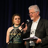 "Morgan Migroux and ""Sandy"" Martin at the 2017 Seacoast Idol @ Exeter Town Hall, Exeter, NH on 5-7-2017.  Matt Parker Photos"