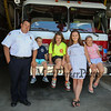 York Beach Assistant Fire Chief Jeffrey Welch with Noah, Carlie, Morgan and Lily at the York Beach Fire Department Annual Parade and Muster on Sunday 6-25-2017, York Beach, ME.  Matt Parker Photos