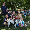 """Fire Dog """"Bella"""" get attention from youngsters at the York Beach Fire Department Annual Parade and Muster on Sunday 6-25-2017, York Beach, ME.  Matt Parker Photos"""