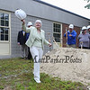 Business Administrator Kathleen Murphy waves to the attendees at the conclusion of the Hampton Academy Groundbreaking-reconstruction ceremony on Monday 7-24-2017, Hampton, NH.  Matt Parker Photos