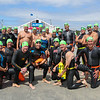 "The, ""1st Wave"" gets ready for the 2017 Nubble Light Challenge, 2.4 mile swim from Long Sands around the Nubble Lighthouse finishing at Short Sands Beach on Saturday 8-12-2017, York Beach, ME.  Matt Parker Photos"
