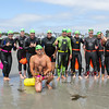"The, ""3rd Wave"" poses for a photo prior to the start at the 2017 Nubble Light Challenge, 2.4 mile swim from Long Sands around the Nubble Lighthouse finishing at Short Sands Beach on Saturday 8-12-2017, York Beach, ME.  Matt Parker Photos"