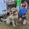 Erin Mahan an 8th grader from East Kingston poses for a photo with her dog Evelyn at the 2017 40th Annual Saunders at Rye Harbor 10k road race to benefit the New Hampshire SPCA on Thursday 8-17-2017, Rye, NH.  Matt Parker Photos