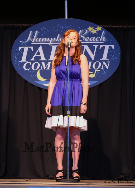 """17 year old Aisling Rafferty of Arlington, MA sings, """"Crazy"""" taking 3rd place in the junior division at the 13th Anniversary of the Hampton Beach Talent Competition 2017, presented by The Hampton Beach Village District on Sunday 8-27-2017 @ The Seashell Stage, Hampton Beach, NH.  Matt Parker Photos"""
