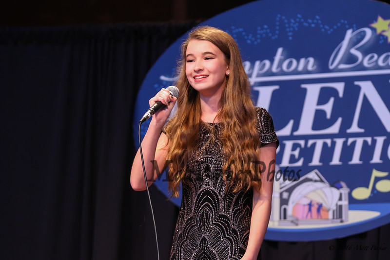 """15 year old Kristina McCarthy of Hudson, NH sings, """"Journey to the Past"""" at the 13th Anniversary of the Hampton Beach Talent Competition 2017, presented by The Hampton Beach Village District on Sunday 8-27-2017 @ The Seashell Stage, Hampton Beach, NH.  Matt Parker Photos"""