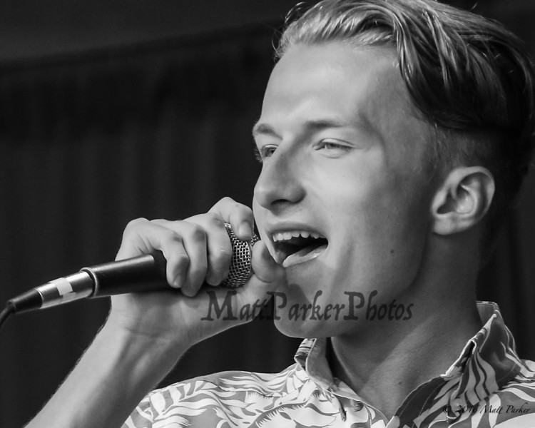 """17 year old Maxwell Sjostrom of Shelburne, NH sings, """"Drops of Jupiter"""" at the 13th Anniversary of the Hampton Beach Talent Competition 2017, presented by The Hampton Beach Village District on Sunday 8-27-2017 @ The Seashell Stage, Hampton Beach, NH.  Matt Parker Photos"""
