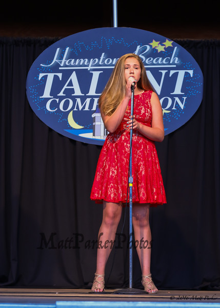 """13 year old Lily Stockwell of Branford, CT sings, """"Burn"""" at the 13th Anniversary of the Hampton Beach Talent Competition 2017, presented by The Hampton Beach Village District on Sunday 8-27-2017 @ The Seashell Stage, Hampton Beach, NH.  Matt Parker Photos"""