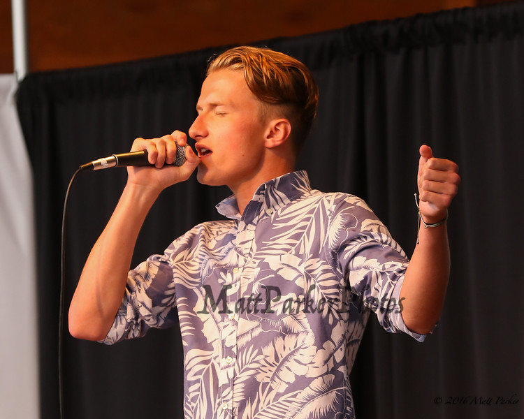 "17 year old Maxwell Sjostrom of Shelburne, NH sings, ""Drops of Jupiter"" at the 13th Anniversary of the Hampton Beach Talent Competition 2017, presented by The Hampton Beach Village District on Sunday 8-27-2017 @ The Seashell Stage, Hampton Beach, NH.  Matt Parker Photos"