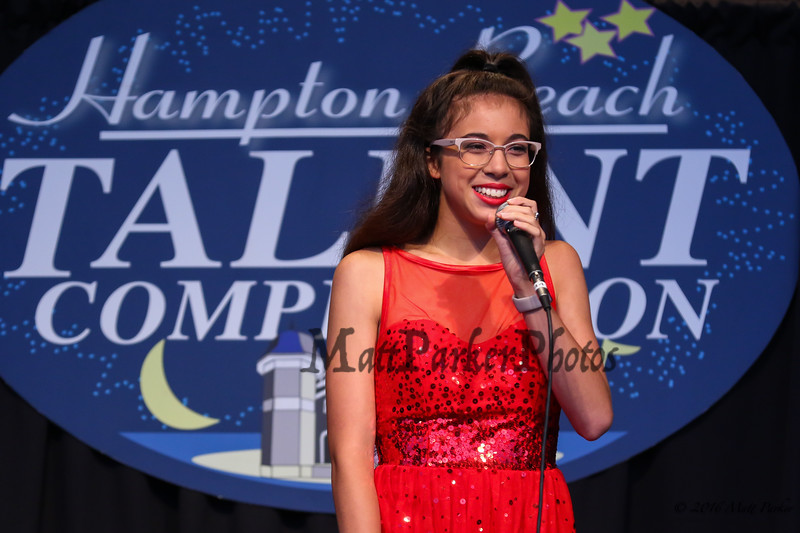 """17 year old Guada-Mary Benoit of Norwich, CT sings, """"MacArther Park"""" at the 13th Anniversary of the Hampton Beach Talent Competition 2017, presented by The Hampton Beach Village District on Sunday 8-27-2017 @ The Seashell Stage, Hampton Beach, NH.  Matt Parker Photos"""