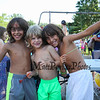 4th grader brothers Titus (L) and Aurelius Curro (R) pose for a photo with 1st grader Eli Lantaigne at the Lane Library Summer Reading Finale party and celebration on Thursday 8-3-2017 @ Centre School, Hampton, NH.  Matt Parker Photos